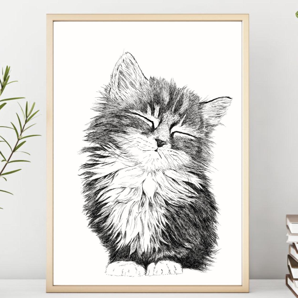 Plakater med dyr - Kattekilling