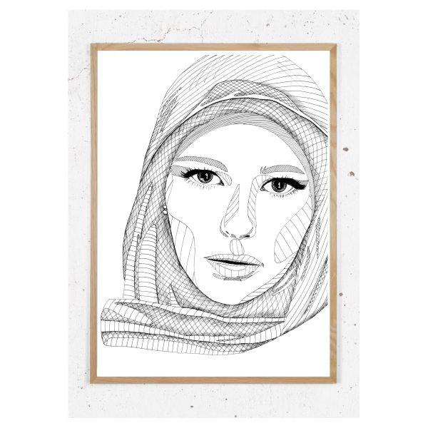 Plakat med damen med tørlædet