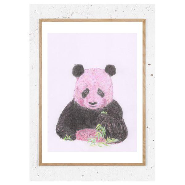 Plakat med pink panda
