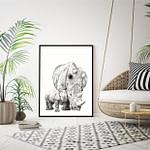 Plakat med næsehorn