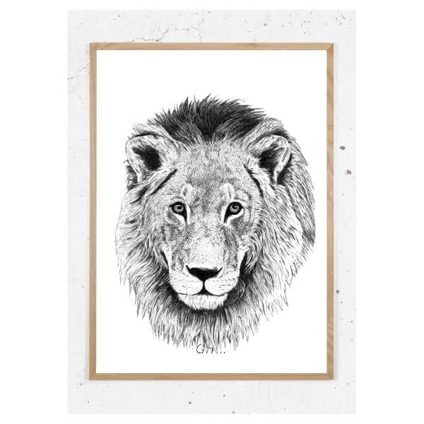 Plakat med løve