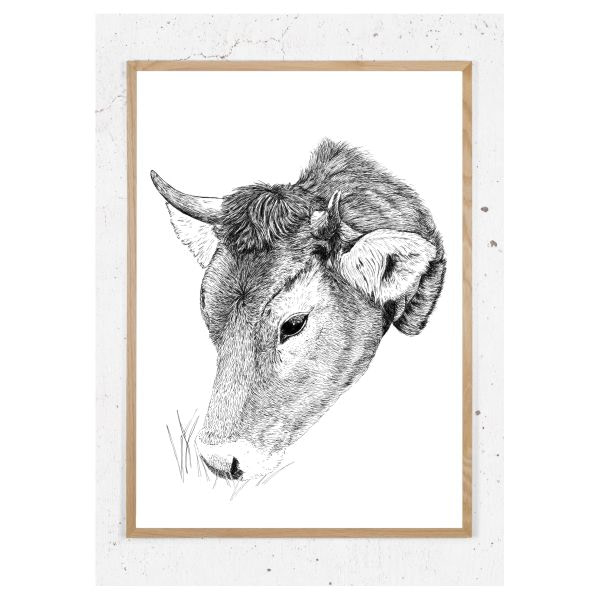 Plakat med ko