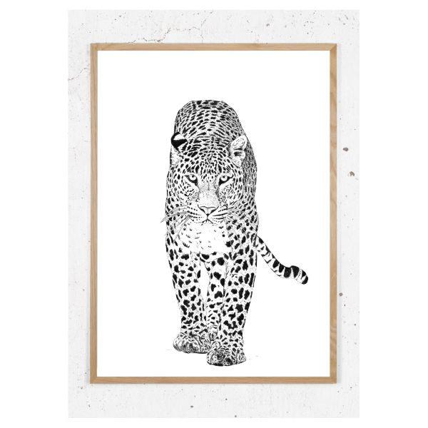 Plakat med leopard