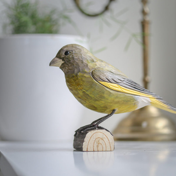 Wildlife Garden deco bird - grønirisk