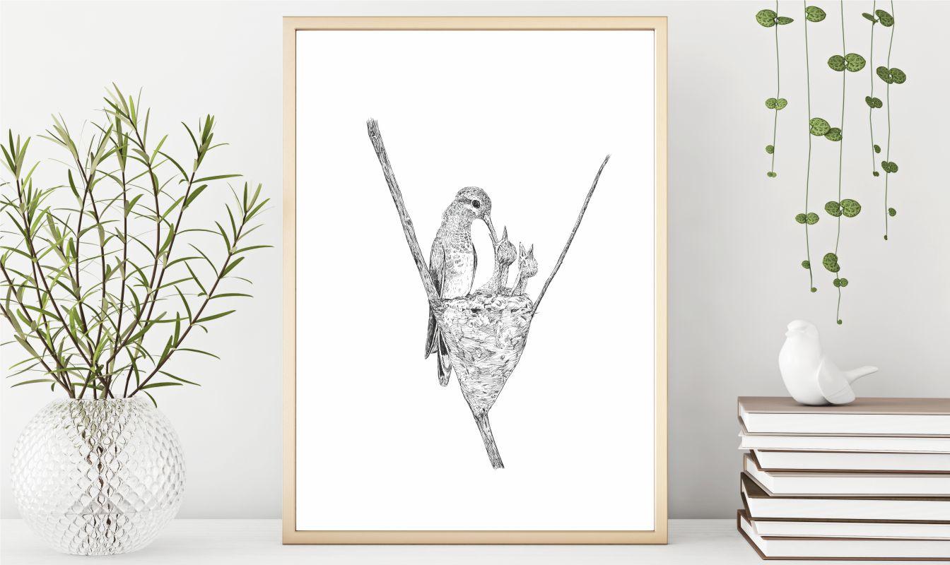 Kolibri plakat fra Karen Dagmar