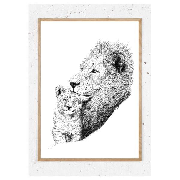 Plakat med løvefar
