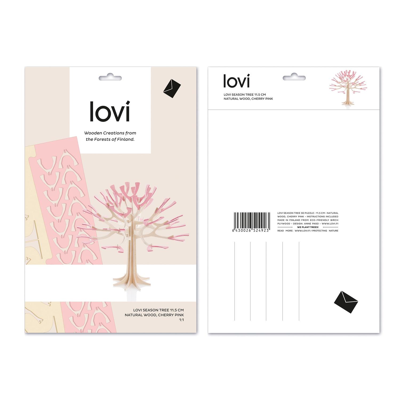 Lovi Træ 11,5 cm lyserød