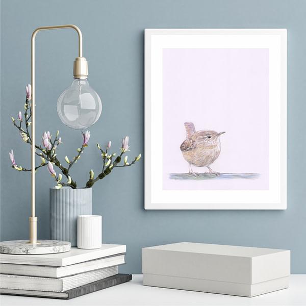 Plakater med dyr - Gærdesmutte